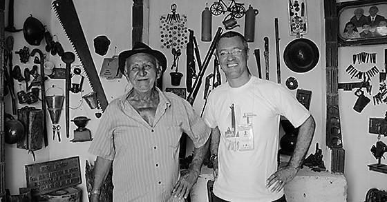 Manuel Travessa e professor Oswaldo, da Universidade Metodista. Foto: Projeto Canudos