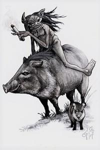Esta é uma das imagens do (a) guardião (ã) da floresta. Reprodução do Pinterest