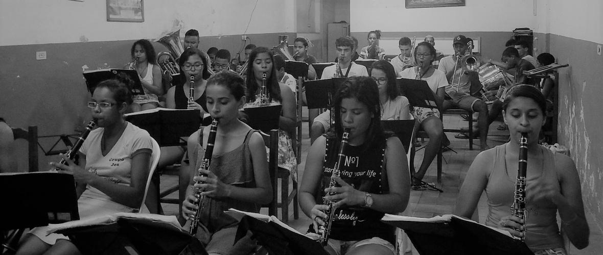 Filarmônica 24 de Julho ensaia para apresentação . Foto: Paulo Oliveira