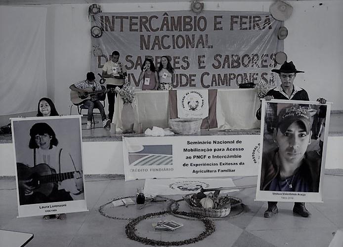 Assembleia homenageia jovens da PJR mortos no Rio Grande do Sul e no Acre. Foto: Joabes R. Casaldáliga.