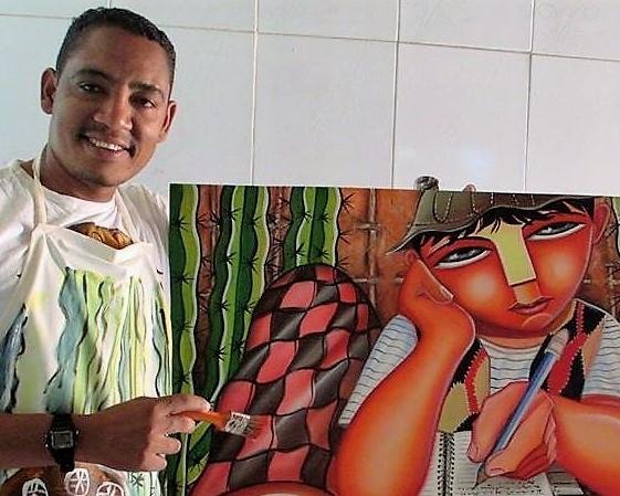 Eduardo Lima, de Capim Grosso, participou de 50 exposições e vendeu centenas de quadro. Foto: Arquivo pessoal