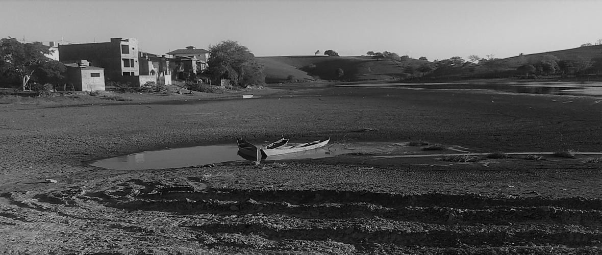 Estiagem prolongada secou a Lagoa da Salomé. em Cedro de São João (SE). Foto: Luiz S. Britto