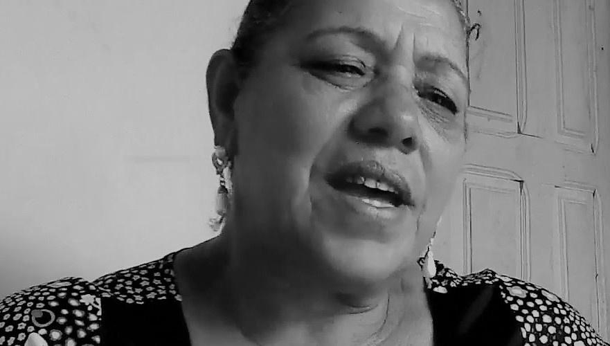 Mãe Nair, de Xique-Xique (BA). Reprodução do vídeo de Helenita Monte de Hollanda.