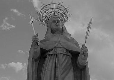 A estátua de santa Rita de Cássia custou cerca de R$ 6 milhões. Divulgação