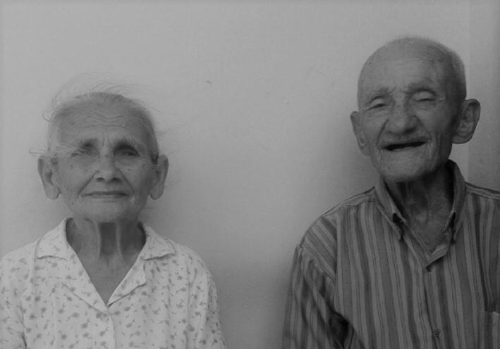 Dona Dedé, 91 anos, e seu Dudé. 97.