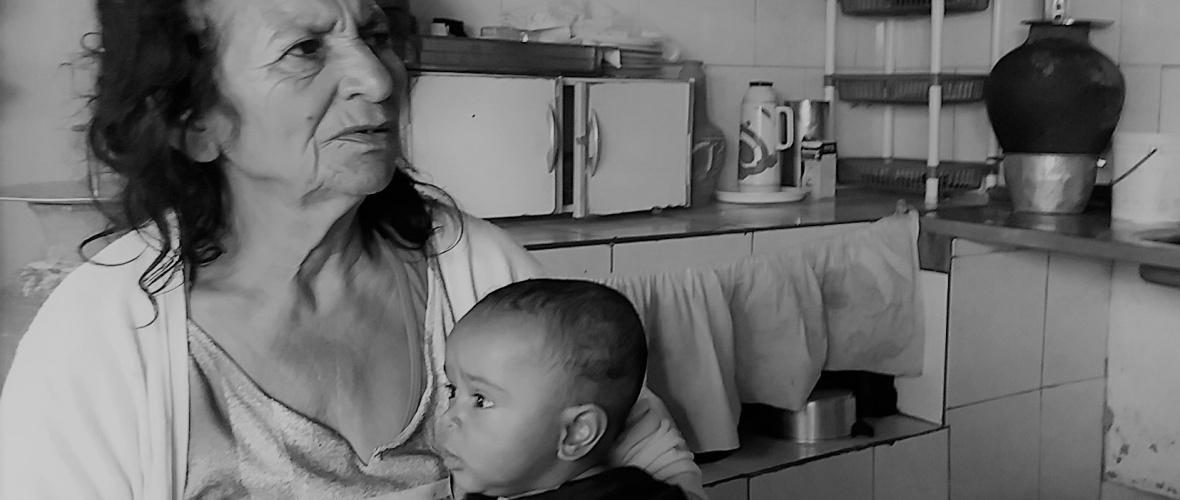 Valerita e um de seus bisnetos. Foto: Paulo Oliveira