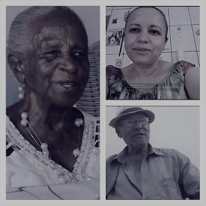 Dona Catarina, Josefa e seu Osvaldo afirmam que o bicho existe. Fotos: Helenita Monte de Hollanda