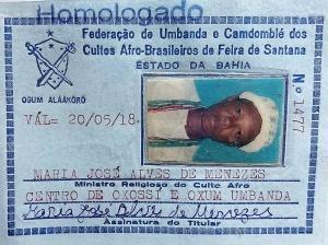O terreiro de Maria é filiado à Federação de Umbanda e Candomblé. Reprodução