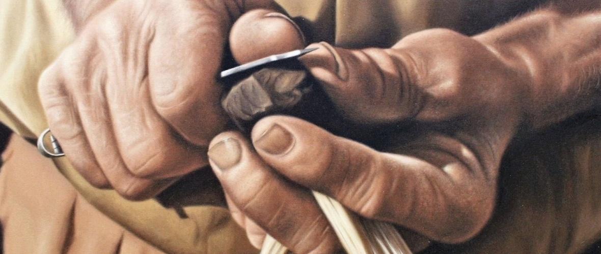 Anúncio de canivete para picar fumo. Autor: Carlos Madeira