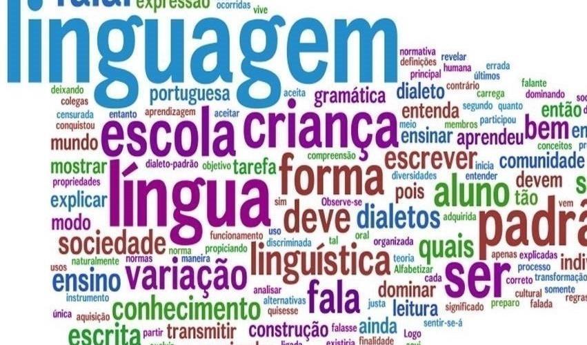 A lingua portuguesa. Ilustração