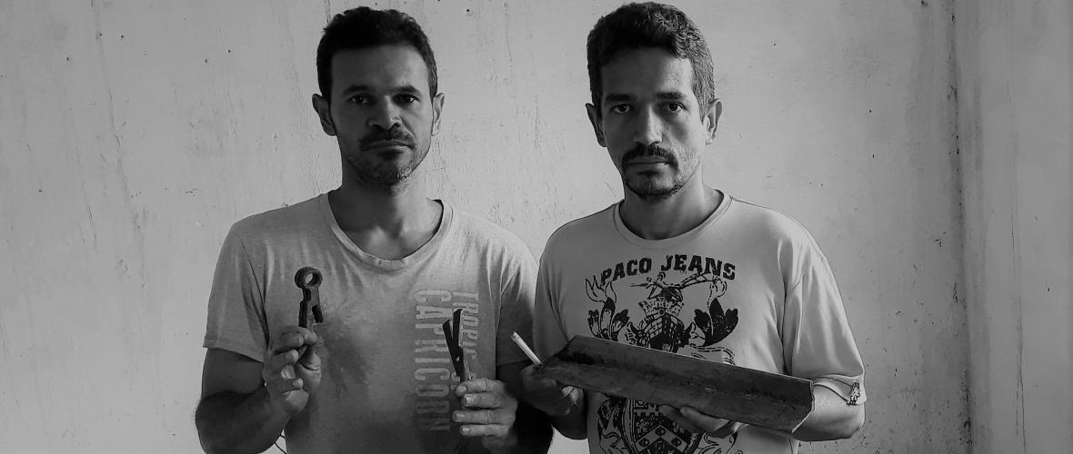 Os irmãos Jadiel e Rubens aprenderam o ofício com o pai. Foto: Paulo Oliveira