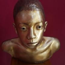 escultura busto de adolescente sérgio gomes