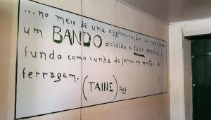 Inscrição feita por Siqueira Campos, no Paço Mjunicipal de Condeúba. Foto: Paulo Oliveira