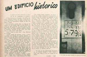 Artigo do poeta Camilo de Jesus Lima e a foto que mostra que a inscrição foi alterada. Reprodução
