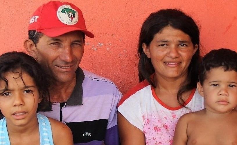 A família de Valciro vive no assentamento Seguidores de Canudos de Melancia. Foto: Camila Gabrielle