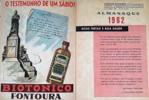 Anúncio e editorial da edição de 1962 do Almanaque Biotônico. Foto: Paulo Oliveira