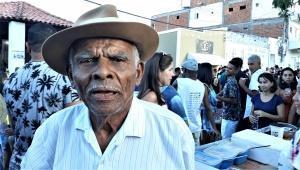 José Martins, 88 anos, diz que nunca viu uma confusão na Lavagem. Foto: Paulo Oliveira