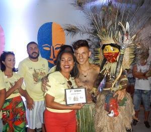 Luiz Augusto, parceiro de Wadson, venceu na categoria máscara juvenil. Foto: Paulo Oliveira