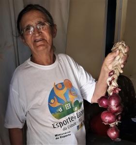 Maria Rosa Pereira, 68 anos, dona de casa e artesã. Foto: Paulo Oliveira