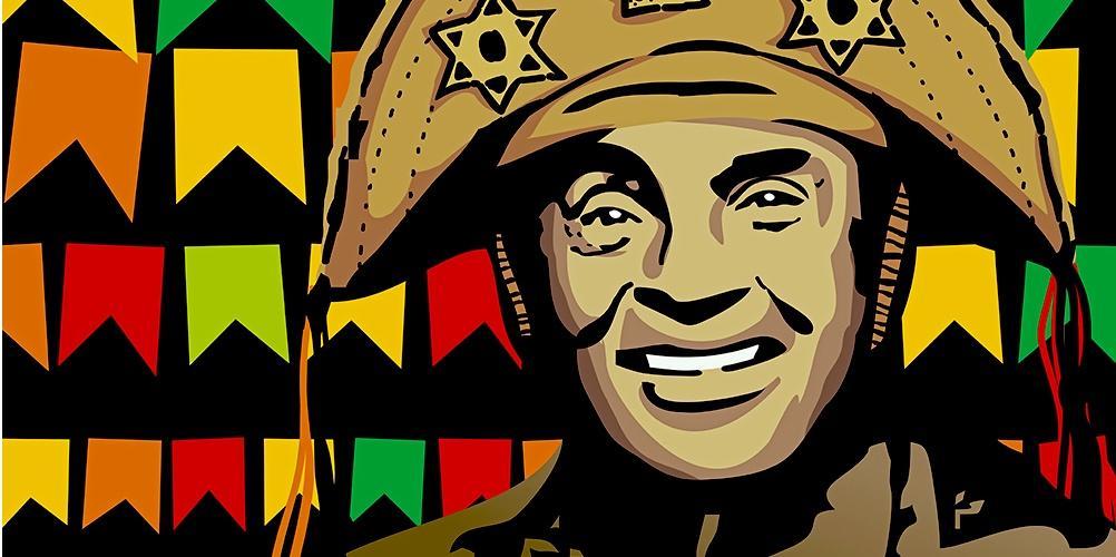 """Luiz Gonzaga, o """"rei do baião"""". Imagem: Paraíba Criativa"""