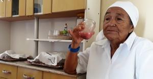 Amélia Julião, 79 anos, líder dos romeiros Pankararu. Foto: Paulo Oliveira