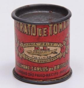 Miniatura da lata de extrato de tomate à venda no site Mercado Livre.