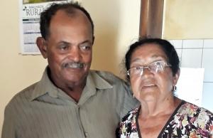 """Getúlio """"Tucho"""" e Joana, companheira de vida. Foto: Paulo Oliveira"""