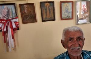 """José Rodrigues dos Santos, 97 anos, cuidou do beato Pedro Batista até a morte do """"Padrinho""""."""