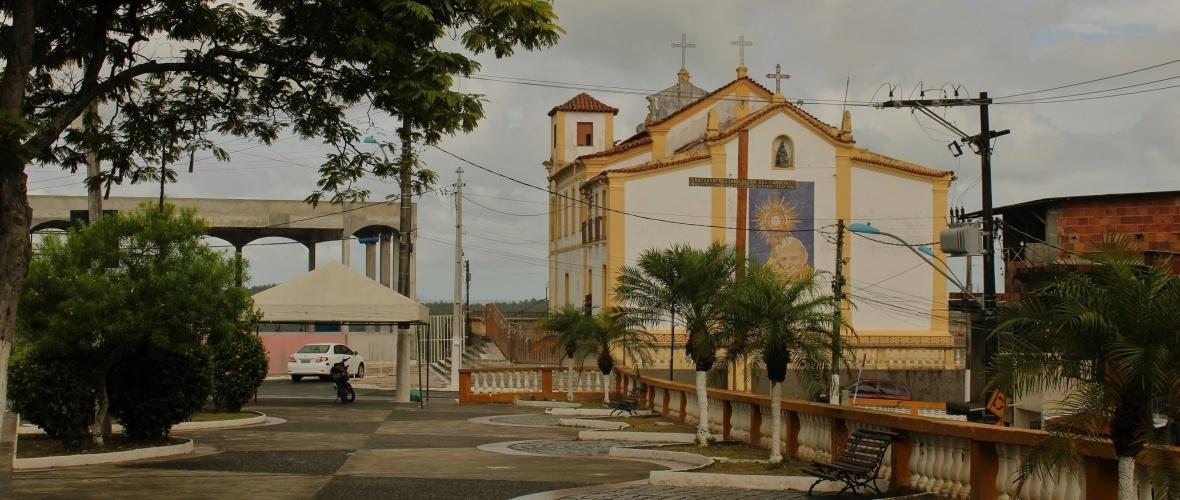 Vista dos fundos do Santuário de Nossa Senhora de Candeias. Foto: Paulo Oliveira