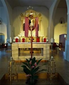 Igreja Matriz do Coração de Jesus, em Ichu, durante a Segunda-feira Santa. Foto: Edcarlos Almeida