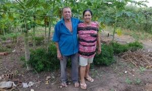 Seu Tote e dona Ormélia. Foto: Nity Menezes da Cruz