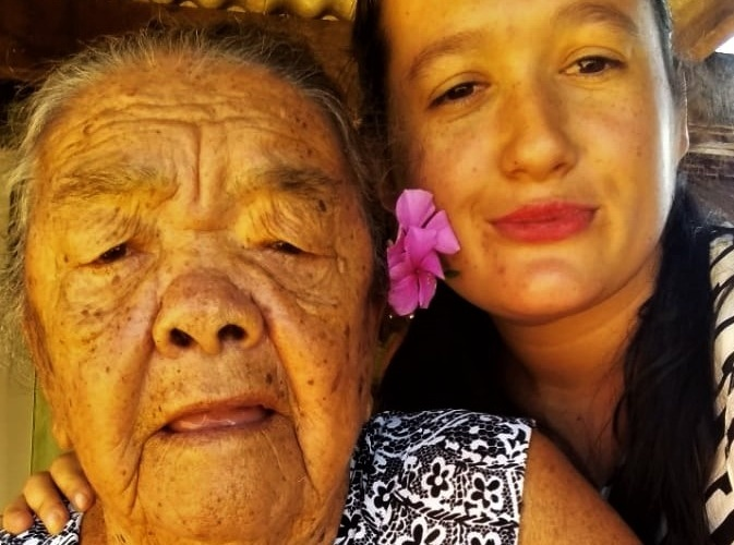 Dona Benta e a sobrinha Juliana. Foto: Juliana Porto