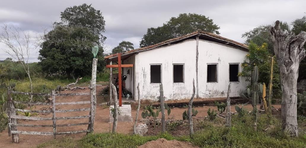 Cruzeiro construído na Fazenda Massapê, em Ichu, como pagamento de graça alcançada. Foto: Edcarlos Almeida