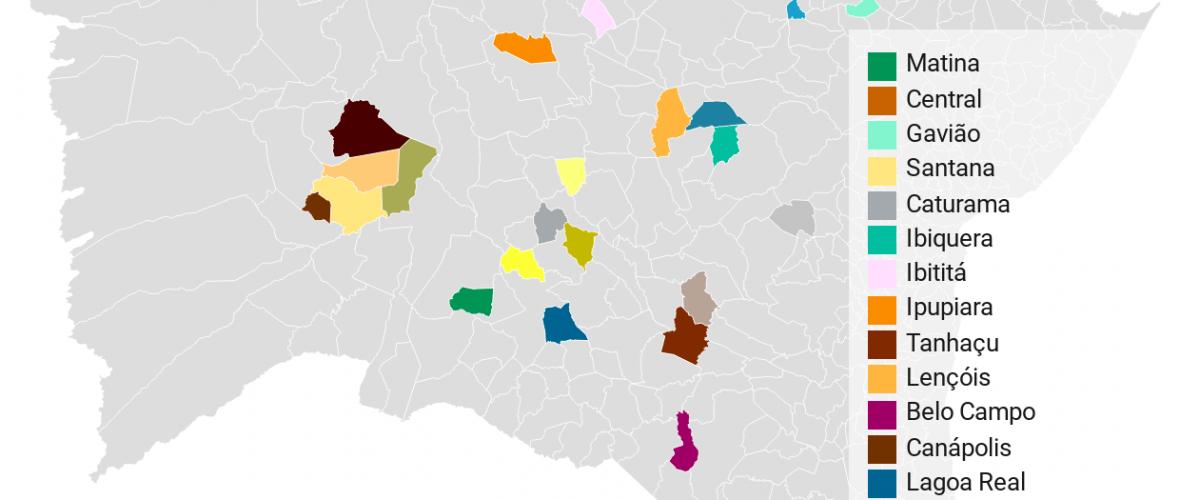 Agora são apenas 23 das 417 cidades baianas livres da Covid-19. Gráfico: Paulo Oliveira