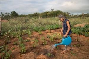 A agricultora Maria Neri de Carvalho, 63 anos, não troca Taquaril por nenhum outro luigar © Thomas Bauer