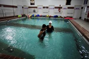 Mens Sana: piscina para reabilitação. Foto: Severino Silva