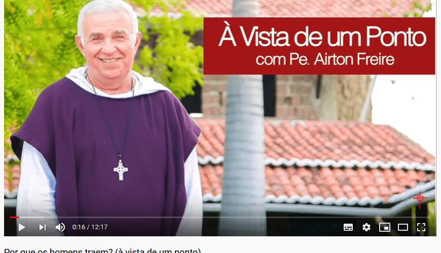 Programa de padre Airton no You Tube. Reprodução