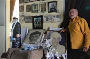 Zezito Apóstolo, na casa museu Padrinho Pedro Batista/Madrinha Dodô. Foto: Paulo Oliveira