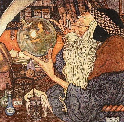"""""""O velho tempo"""", ilustração de Edmond Dulac, 1906."""