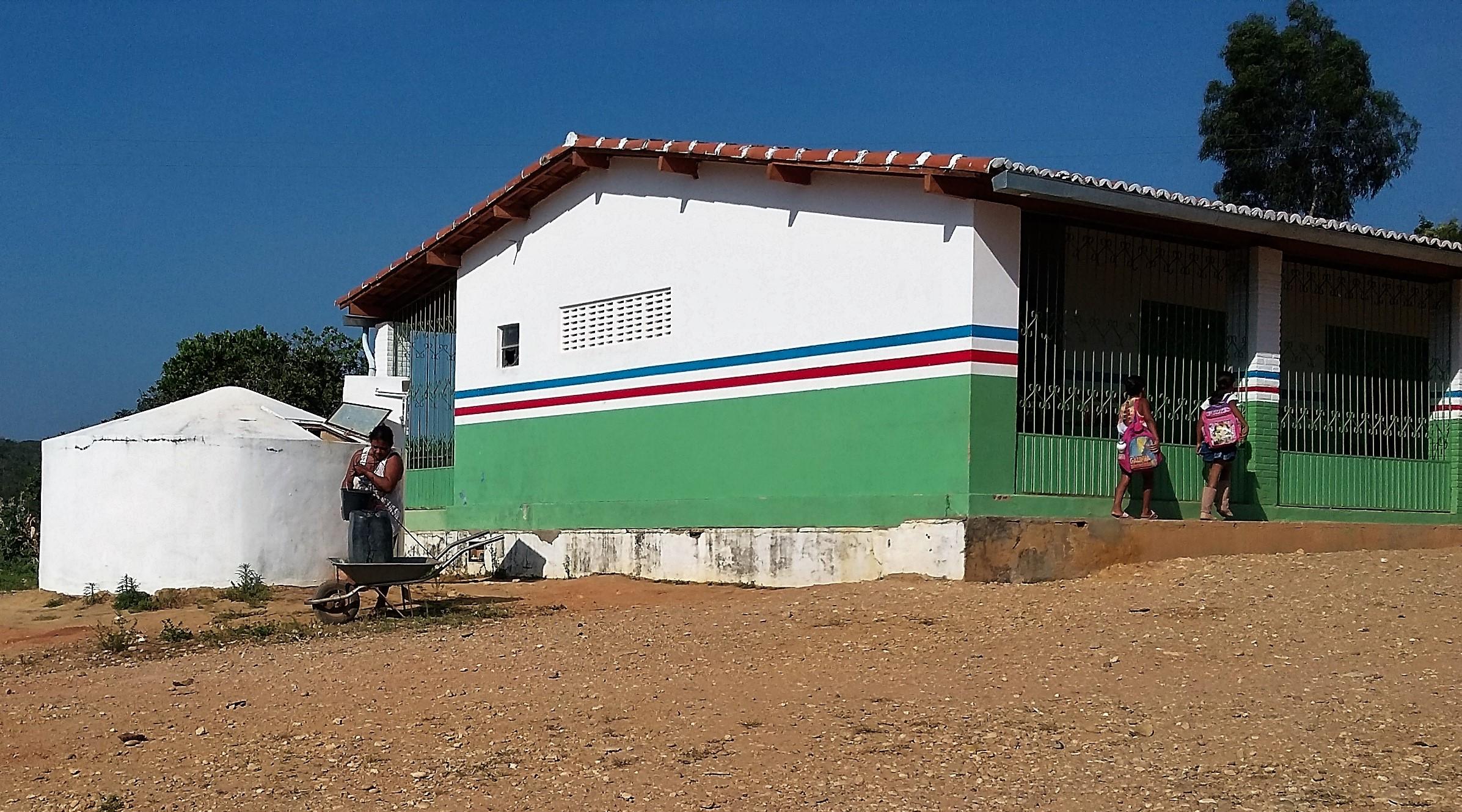 Escola Municipal da Baixa do Quelé é abastecida por uma cisterna. Foto: Paulo Oliveira
