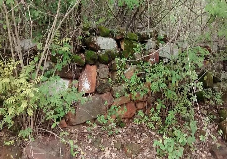 Muro que teria sido construído por negros escravizados. Reprodução