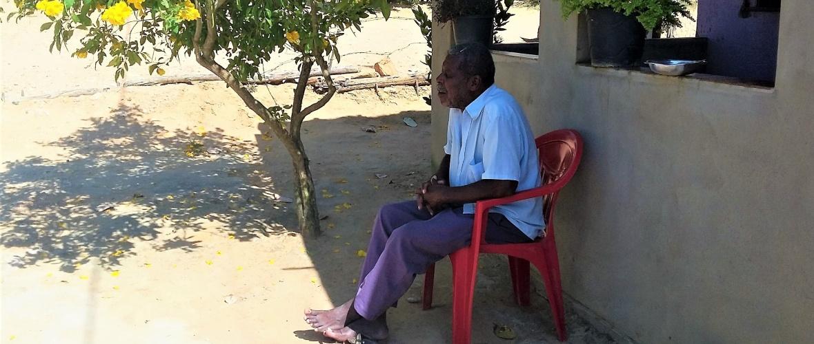Manuel Cardoso, 83 anos, guarda na memória as disputas por terra existentes até hoje. Foto: Paulo Oliveira