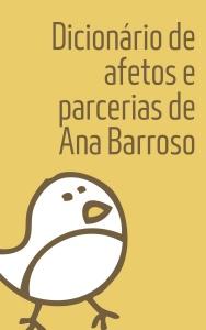 Capa do Dicionário de afetos e parcerias de Ana Barroso versão Bárbara