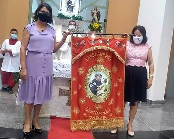 Trezena de Santo Antônio em Canudos. Reprodução da página da paróquia no Facebook.
