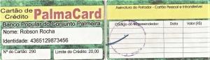 PalmaCard, o primeiro cartão de crédito do Conjunto Palmares. Reprodução